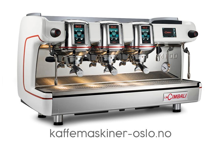 La Cimbali M100 white coffee machine
